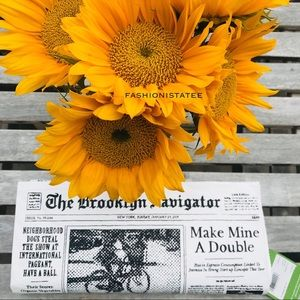 Kate spade newspaper Brooklyn clutch glitzy ritzy